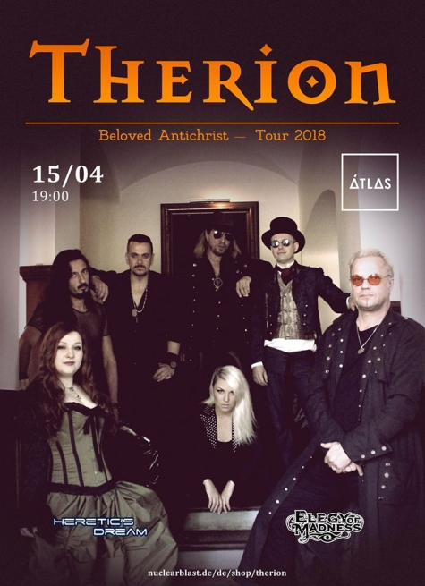 Концерт Терион. Therion. Therion. Therion. Билеты на Therion в Киеве. Квитки на концерт Therion у Києві. Tickets for Therion in Kyiv. Therion in Atlas. Therion в Киеве. Билет на Therion без сервисного сбора в Киеве  2018, заказ билетов с доставкой по Украине